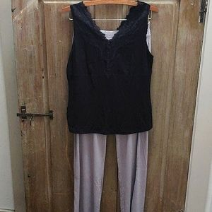 NWOT! Intimates modal cotton lace top & bottoms